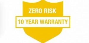 10 Year Warranty- Industry Leading