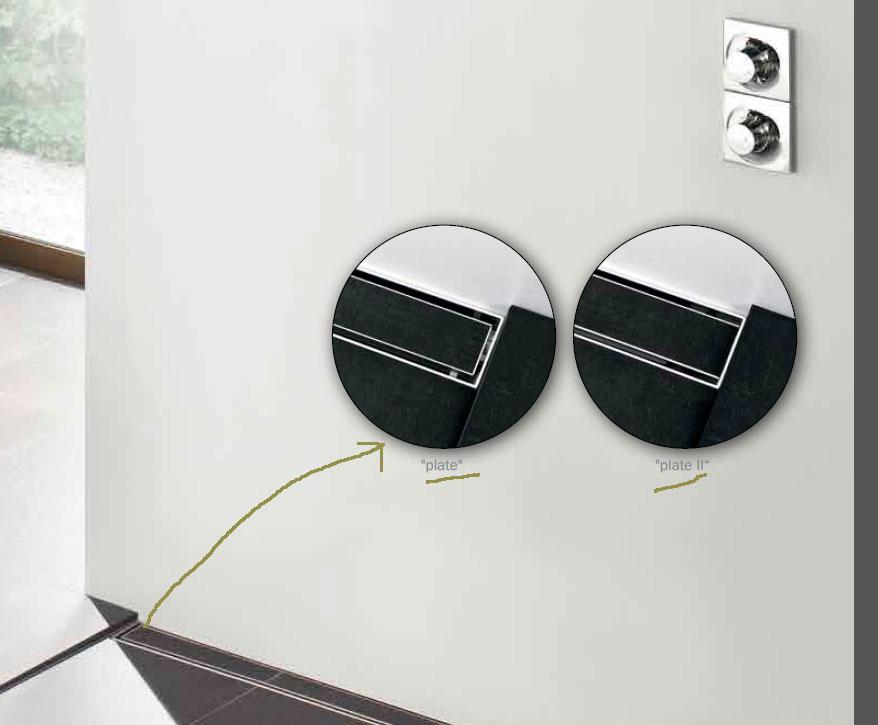"""Накладная панель-основа душевого лотка для плитки ТЕСЕdrainlinе """"plate"""", из нержавеющей стали"""