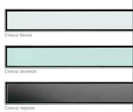 Стеклянная панель ТЕСЕdrainlinе для слива