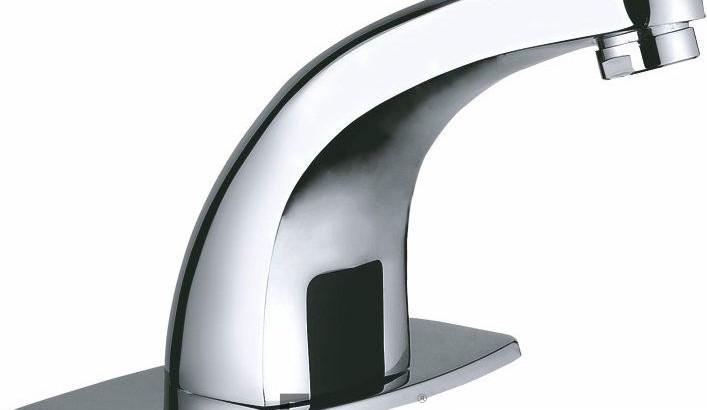 Дешевый сенсорный смеситель для умывальника Frap F512 (Китай), смеситель для общественных мест и производств, недорогой бесконтактный смеситель