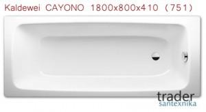Ванна стальная Kaldewei CAYONO 1800x800x410