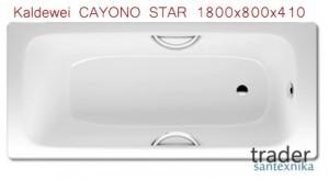 Ванна стальная Kaldewei CAYONO STAR 1800x800x410