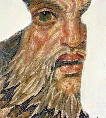 Фрагмент мозаики 2-го века, Римская Империя, Музей Туниса