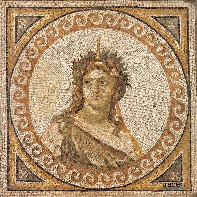 Римская мозаика, 325-330 гг, размеры 46 1/4 × 46 1/4 in 117.5 × 117.5 cm (RISD Museum)