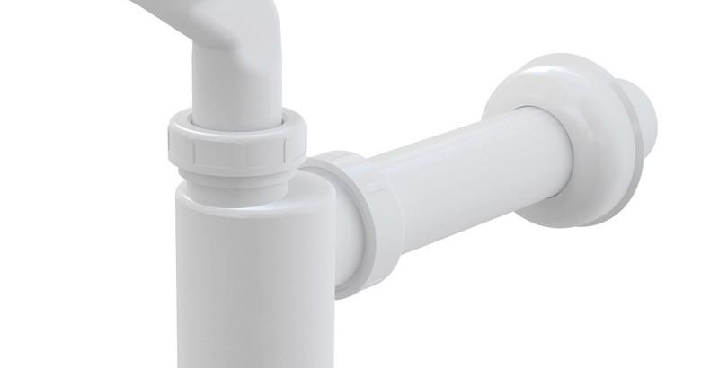 сифон бутылочный для писсуара Alcaplast с отводной трубой Ø 40 мм