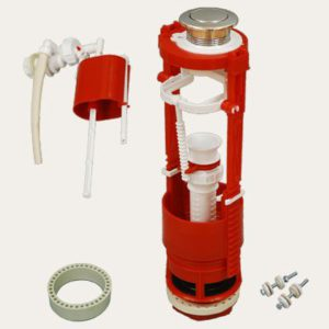 Кнопочная арматура с универсальным клапаном боковой подводки воды, металлизированная кнопка AC - 16.1 M