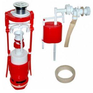 Кнопочная арматура 2-х уровневая с универсальным клапаном боковой подводки воды, металлизированная кнопка AC - 11.1 M