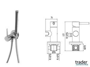 Встраиваемый однорычажный кран для биде Tres WC 134123