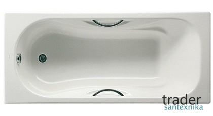 Самая популярная ванна с ручками: чугунная ванна Roca Malibu