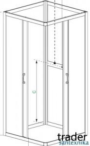 Душевая кабина для дачи, кабинка с закрытыми задними стенками, от польского производителя Radaway
