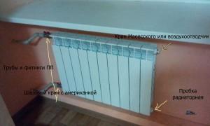 Вариант простого присоединения алюминиевого радиатора