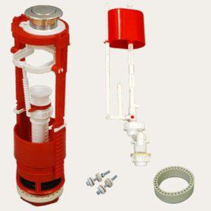 Кнопочная арматура с универсальным клапаном нижней подводки воды, металлизированная кнопка