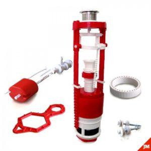 Кнопочная арматура 2-х уровневая с универсальным клапаном боковой подводки воды, металлизированная кнопка AC - 12.1 M