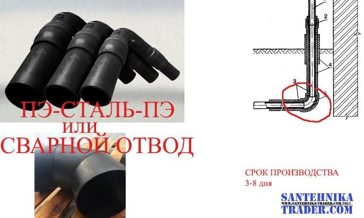 Неразъемные отводы сталь-полиэтилен