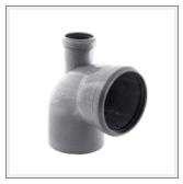 Колено канализационное с отводом